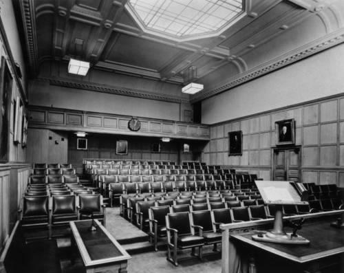 Lecture theatre in the 1940s