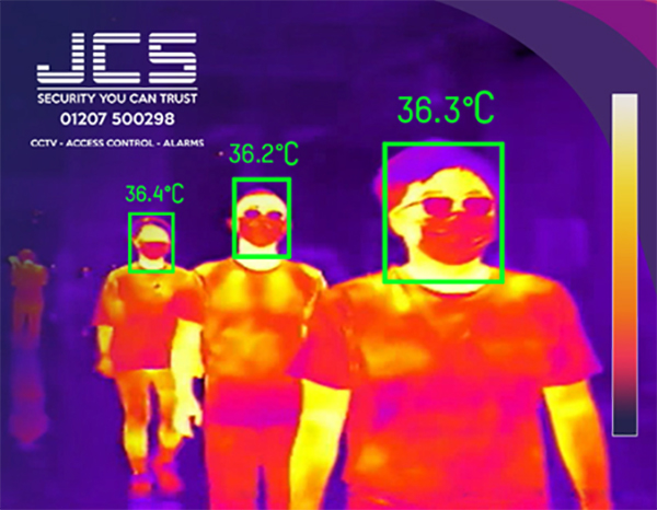 Figure 1. Visual demonstration of thermal camera output