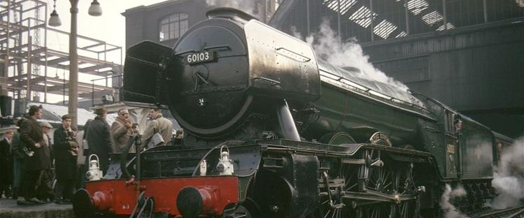 The Flying Scotsman, picture courtesy of the National Railway Museum