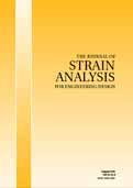 Journal of Strain Analysis for Engineering Design