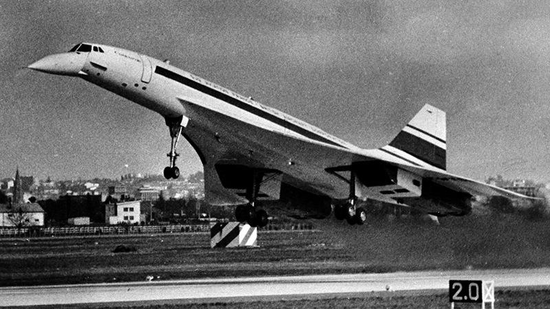 Concorde's first flight on 2 March, 1969 (Credit: André Cros/ Wikimedia)