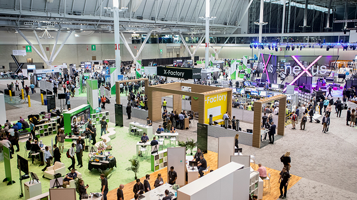 The conference floor at LiveWorx (Credit: PTC)