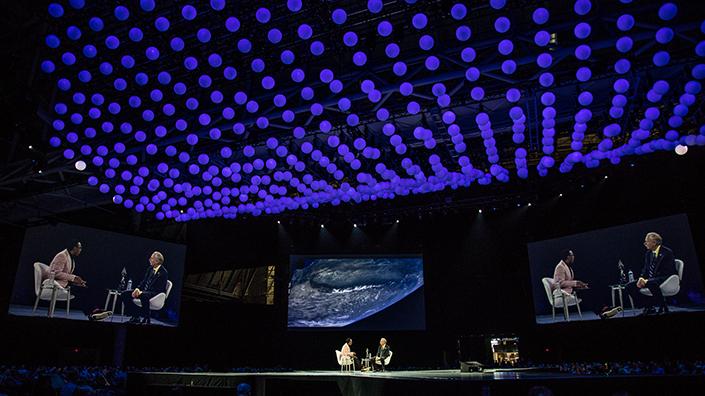 William Gerstenmaier on stage at LiveWorx (Credit: PTC)