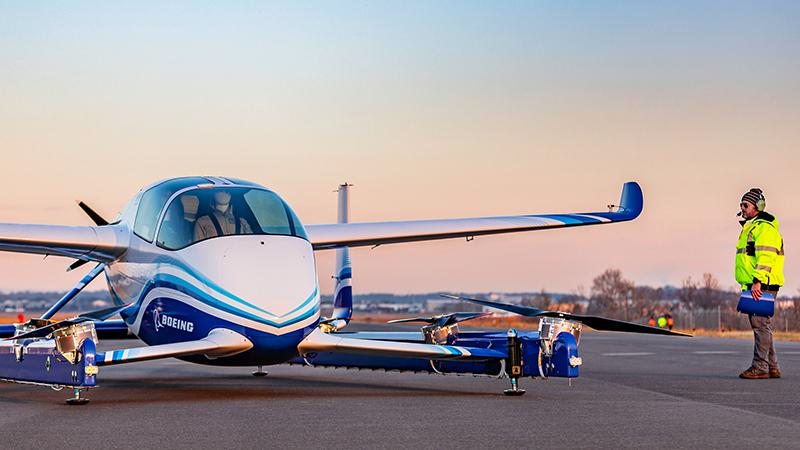The prototype autonomous passenger air vehicle (Credit: Boeing)
