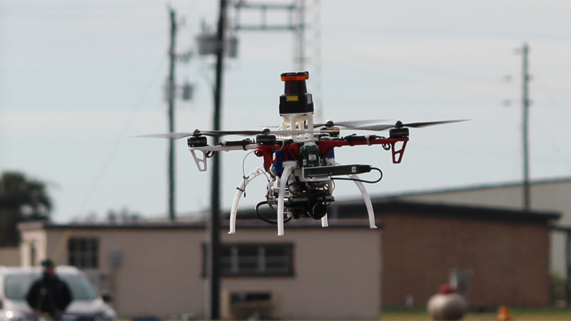 An MIT drone equipped with the NanoMap system (Credit: Jonathan How, MIT)