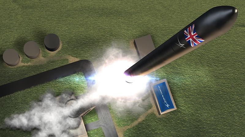 A concept image showing a Lockheed Martin rocket lifting off in Scotland (Credit: Lockheed Martin)