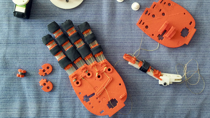 The robotics industry is becoming a fascinating testbed for a new world of democratic manufacturing (Credit: OpenBionics/ Hackaday)