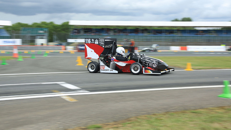 Cardiff Racing competing at Formula Student 2017