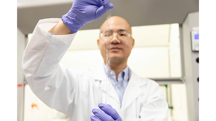 The artificial ionic skin could be used to make exo-suits for patients (Credit: Daria Perevezentsev/ University of Toronto Engineering)