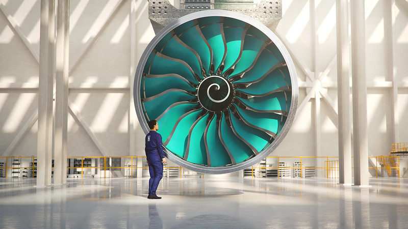 The UltraFan engine will be almost as wide as some narrow-body fuselages (Credit: Rolls-Royce)