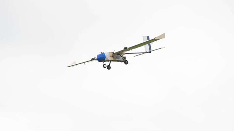 Team Peryton's aircraft soars over BMFA Buckminster airfield in Lincolnshire