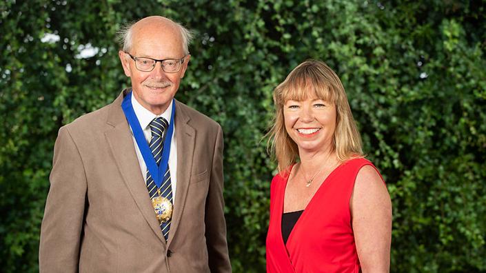 IMechE president Peter Flinn and chief executive Dr Alice Bunn