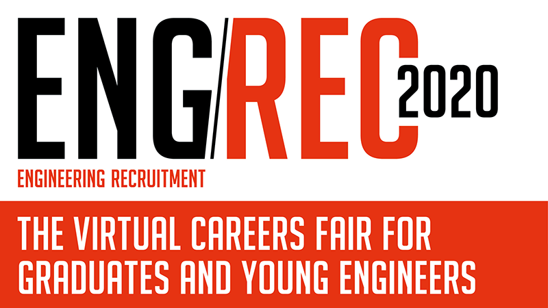 Attend EngRec Live 2020 - the FIRST virtual careers fair for young engineers