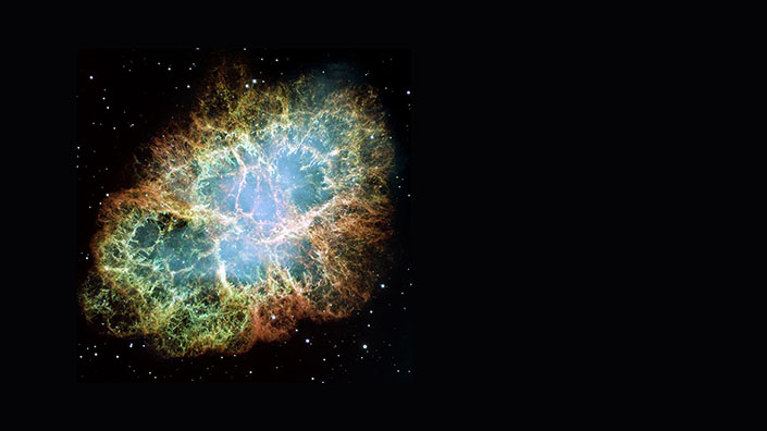 In 1968, Arecibo discovered the periodicity of the Crab pulsar, which sits within the Crab Nebula (Credit: NASA/ESA/JPL/Arizona State Univ.)