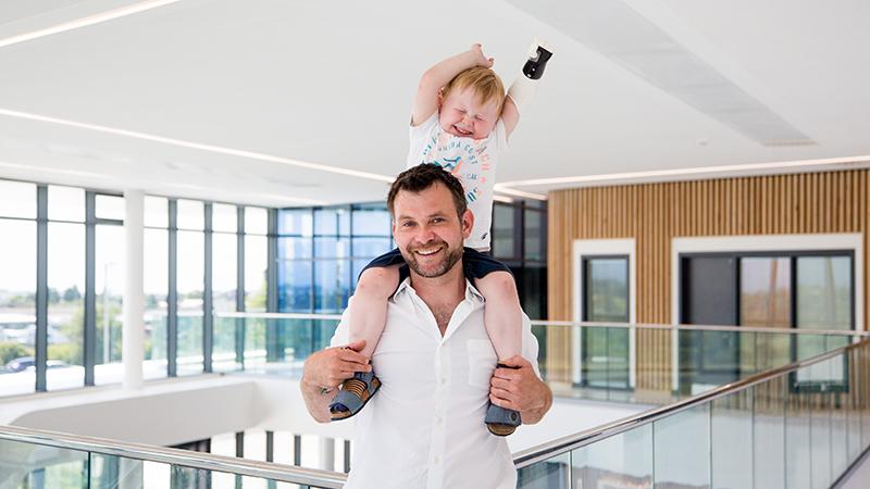 Ben Ryan and his son Sol (Credit: Iolo Penri)