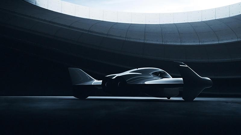 The first image of Porsche and Boeing's new 'premium', propeller-free eVTOL concept (Credit: Boeing/ Porsche)
