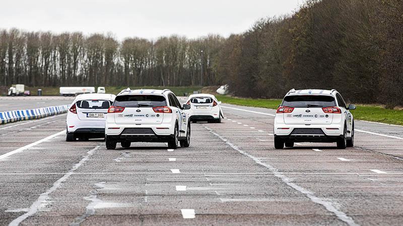 The cars took part in scenarios replicating real-life events on UK motorways (Credit: MuCCA/ Cranfield University)