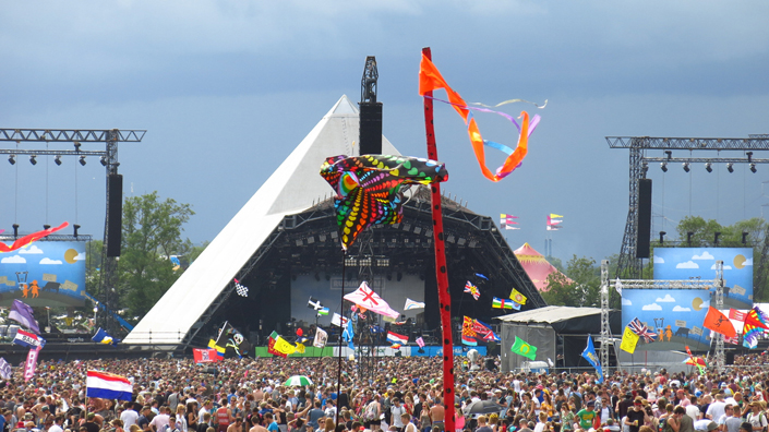 One of the Glastonbury festivals, held in Somerset, England. (Credit: iStock)