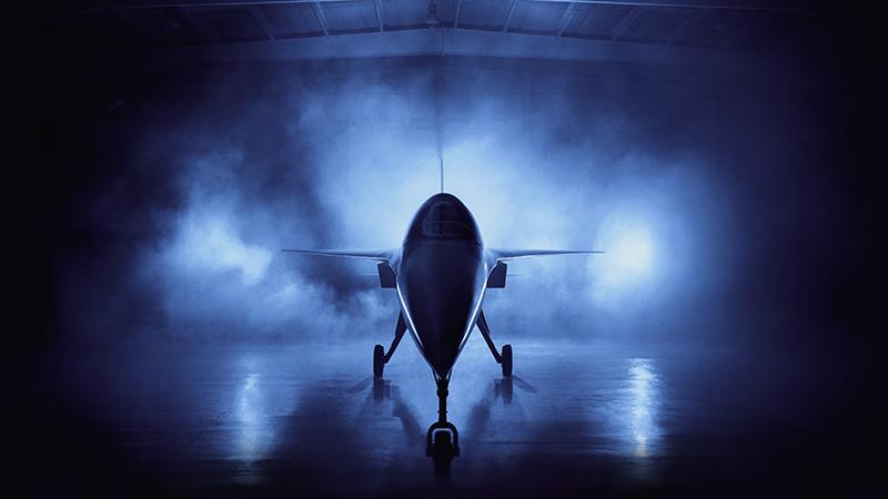 The Boom Supersonic XB-1 prototype plane (Credit: Boom Supersonic)