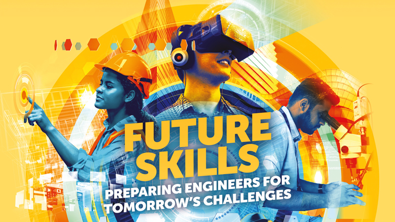 What skills will engineers need to tackle the challenges of the future? (Credit: Andy Potts/ Good Illustration Agency)