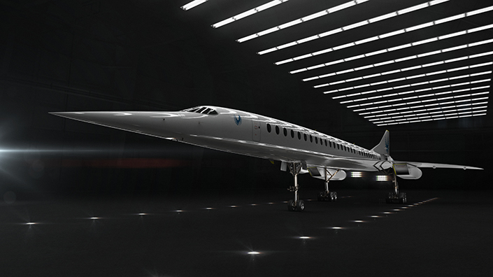 The Overture airliner could be the first ever aeroplane to make a carbon neutral supersonic flight (Credit: Boom Supersonic)