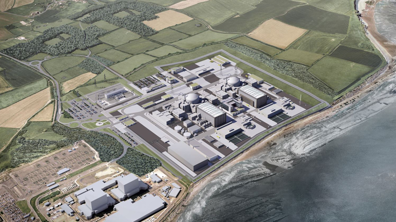 A computer-generated image of how Hinkley Point C could look (Credit: EDF)