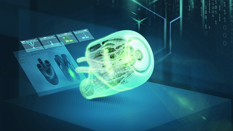 Additive manufacturing can create complex shapes quicker than traditional methods (Credit: Siemens)