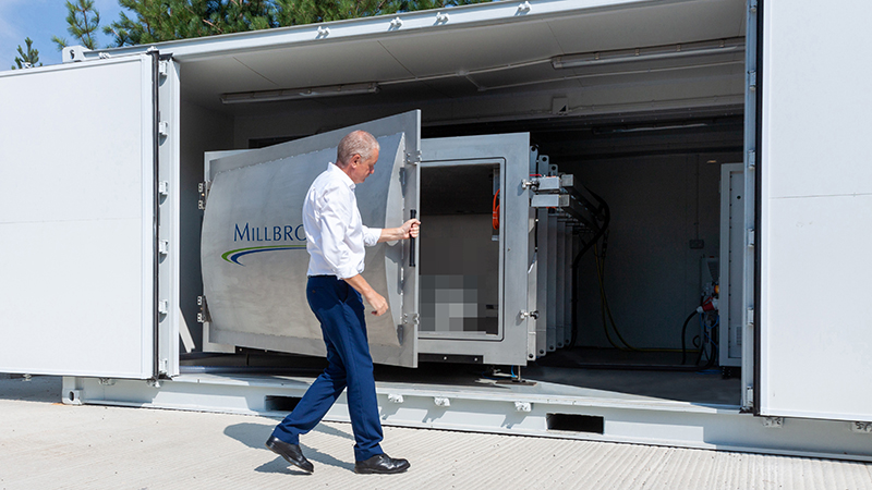 The facility at Millbrook Proving Ground simulates flight in an unpressurised aircraft cargo hold (Credit: Millbrook)