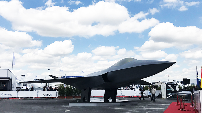 A full-scale model of the European Next Generation Fighter was unveiled at the show