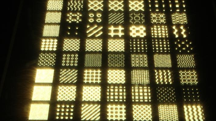 Shapes formed by selective laser melting (Credit: University of Nottingham)