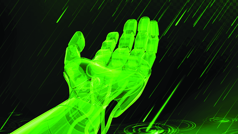 The development of electronic skin could have important medical benefits and lead to industrial robots that can handle fragile materials (Credit: Shutterstock)