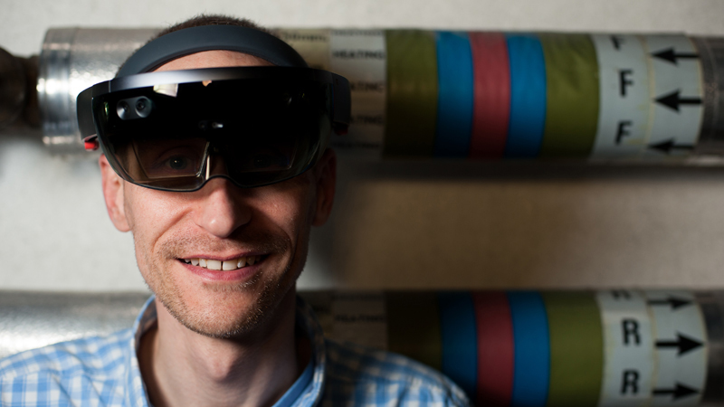 IBM master inventor Kevin Brown with the Hololens headset