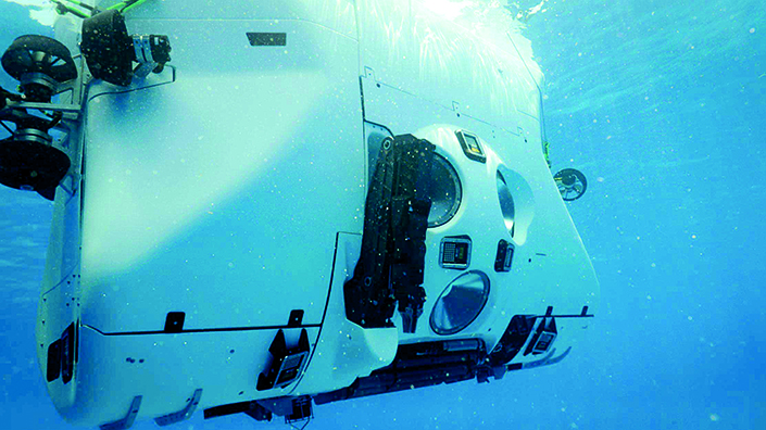 A robotic arm was used to collect samples (Credit: The Five Deeps Expedition)