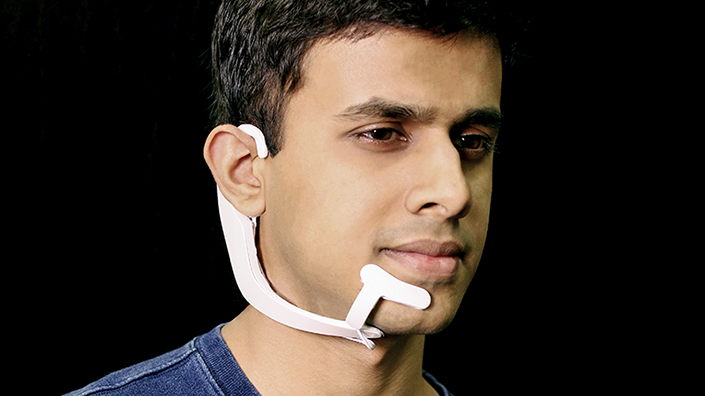AlterEgo detects subtle movements of the face to let users silently speak to devices (Credit: Lorrie Lejeune/ MIT)
