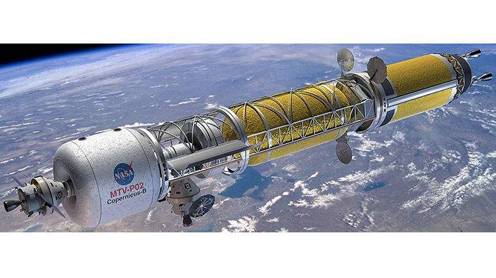 A nuclear rocket designed for missions beyond Mars