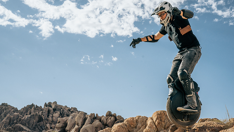 The InMotion V11 is billed as the first-ever electric unicycle with built-in adjustable suspension (Credit: http://www.euco.us/)