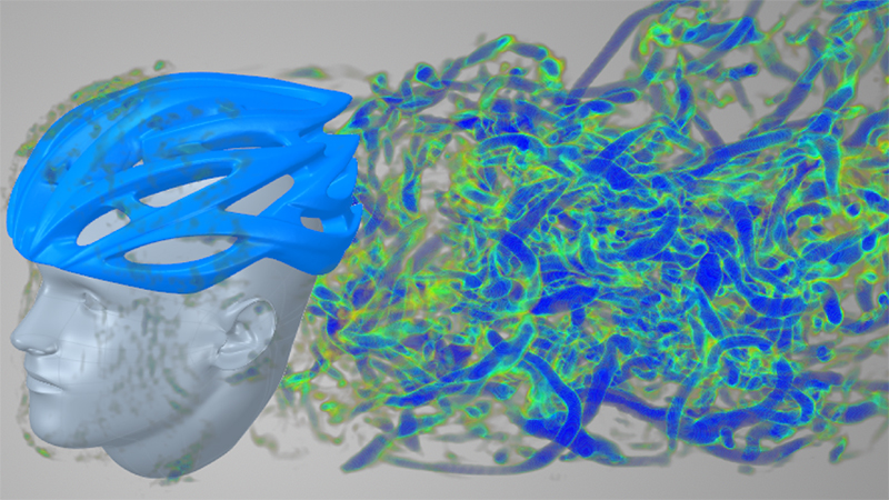 Ansys Discovery Live gives instant insight into fluid properties such as vorticity