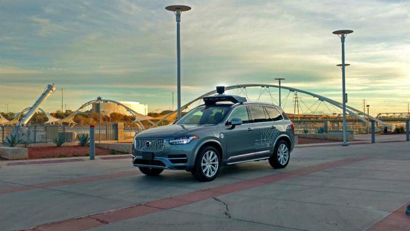 An autonomous Uber taxi (Credit: Uber)