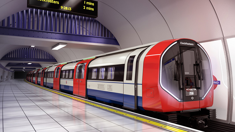 How the new Piccadilly Line Tube trains will look (Credit: Siemens)
