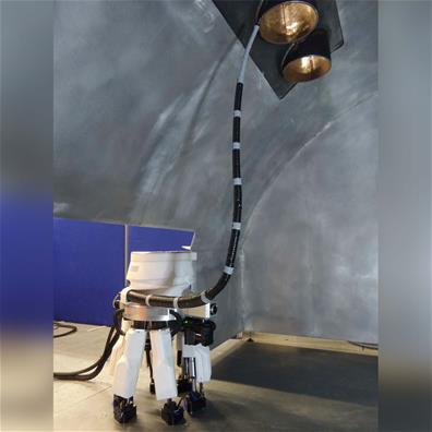 Continuum robots like this one, developed by the University of Nottingham, also have applications in the nuclear industry