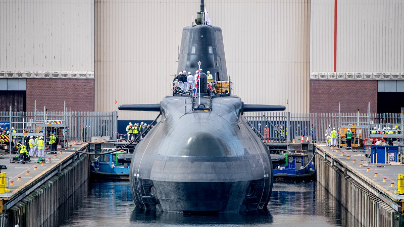 BAE Systems launched the Anson Astute class submarine into the water (Credit: BAE Systems)