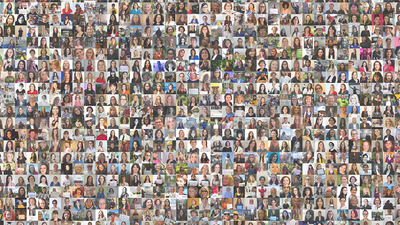 Wise invited women in Stem roles to upload their photo to an online collage, to celebrate the 'significant milestone' and inspire more women to join Stem roles (Credit: Wise)