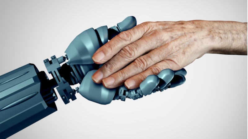 Stock image. The new robotic grippers could give greater dexterity and sensitivity to robots used in healthcare or assisting elderly people (Credit: Shutterstock)