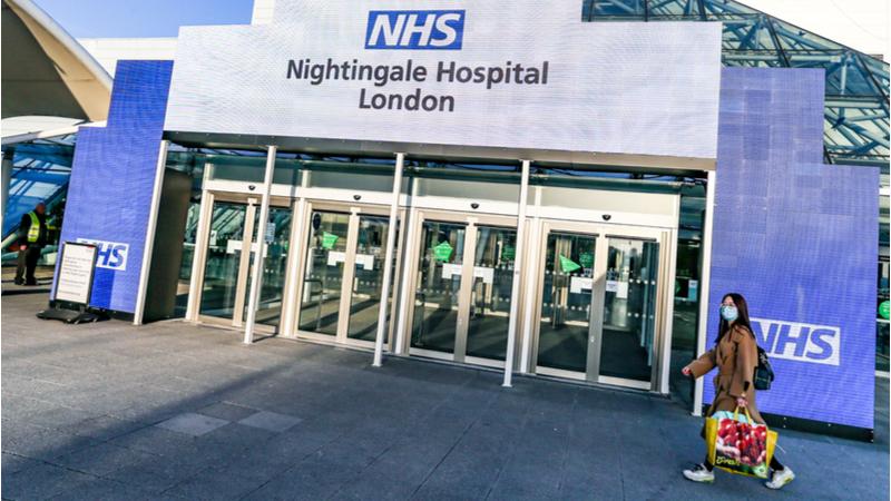 在伦敦Excel中心的新夜莺医院(信用:Shutterstock)