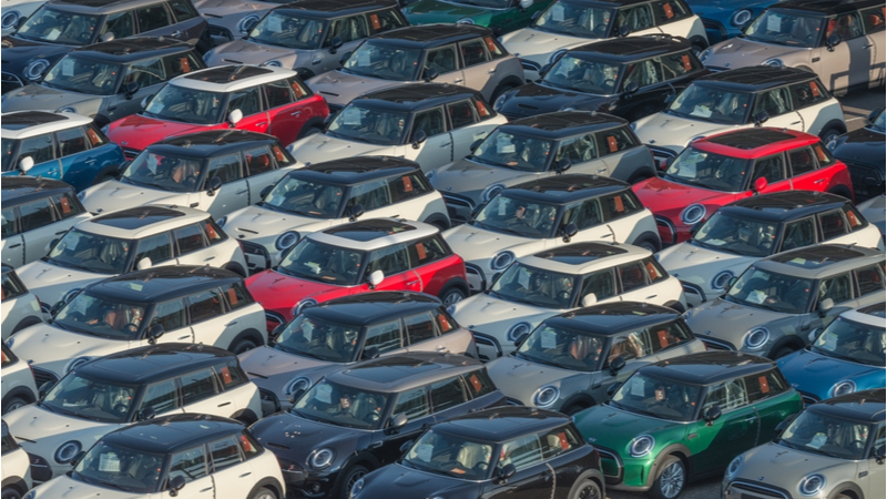 Stock image. Vehicle export revenues reached £27bn in 2020 (Credit: Shutterstock)