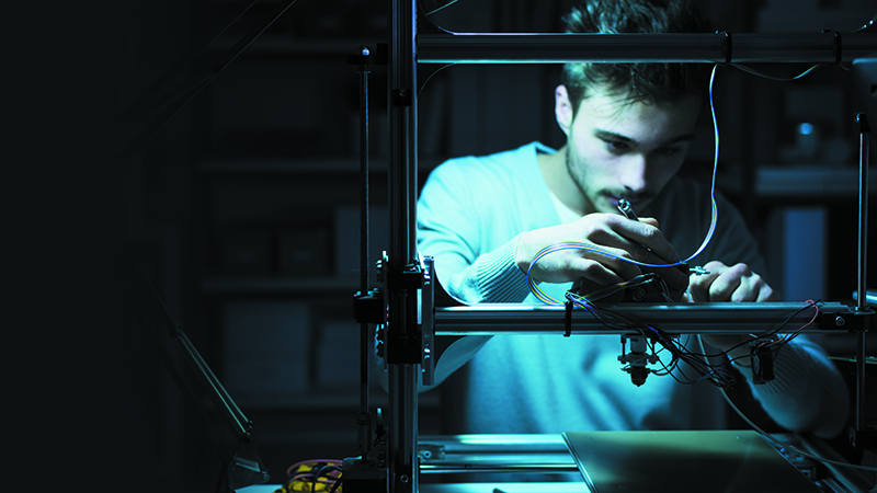 'A decentralised network of 3D printing facilities... can quite literally save lives' (Credit: Shutterstock)