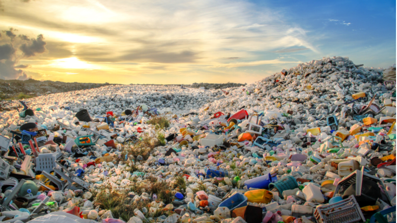 Stock image. The new catalyst turns plastic waste into useful materials, despite working at a lower temperature than current systems (Credit: Shutterstock)