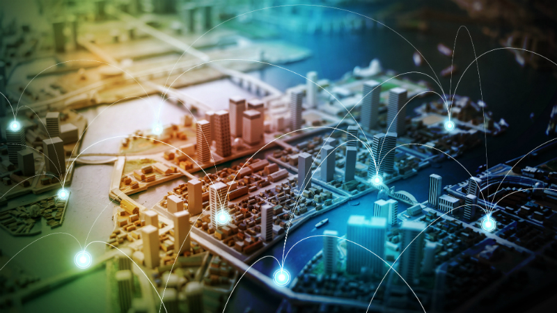 Smart cities will rely on low-power sensors embedded in many devices and structures (Credit: Shutterstock)