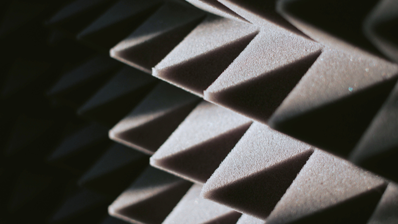 The catalyst platform turns carbon dioxide into polyurethane, which can be rigid or flexible, such as in this soundproof foam (Credit: Shutterstock)