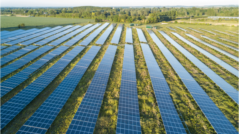 Of the new UK solar energy capacity, 60% came from ground-mounted photovoltaic systems (Credit: Shutterstock)